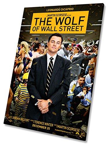 El Lobo de Wall Street Póster de la película Lienzo enmarcado impresión 20x 30pulgadas