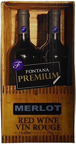 Merlot Fontana Wine Making Kit Premium (28 Day kit), 15.4lbs