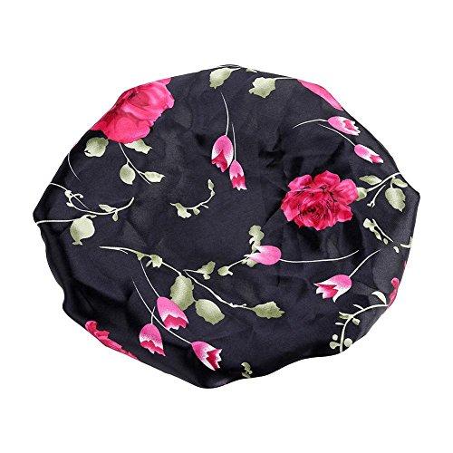 Pérdida de cabello Cap, Mujer Pérdida de cabello Cabeza Bufanda Cáncer Sombrero Chemo Cap Turbante Cabeza Abrigo Cubierta Satén Dormir Cap(A)