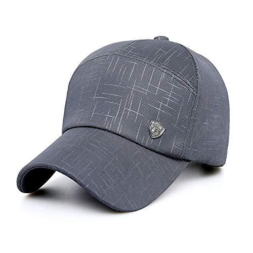 PPSTYLE Männer Baseballmütze Outdoor-Mode Wilden Leinwand lässig Schatten Baseballmütze-Grau