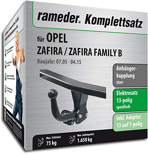Rameder Komplettsatz, Anhängerkupplung starr + 13pol Elektrik für OPEL Zafira/Zafira Family B (117037-05425-3)