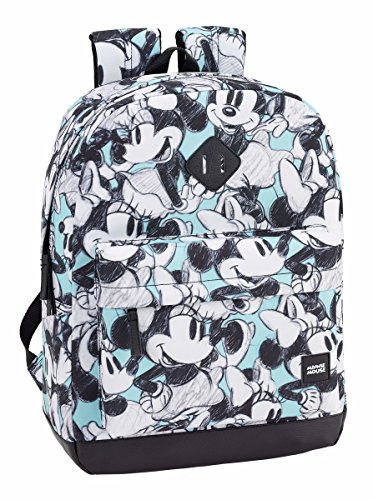 Safta - Mochilas de Minnie o Mickie Mouse de Varios tamaños (Minnie Mouse Junior, 320x140x430mm)