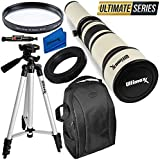 Ultimaxx 650-1300mm Telephoto Zoom Lens Kit for Nikon D7500, D500, D600, D610, D700, D750, D800, D810, D850, D3100, D3200, D3300, D3400, D5100, D5200, D5300, D5500, D5600, D7000