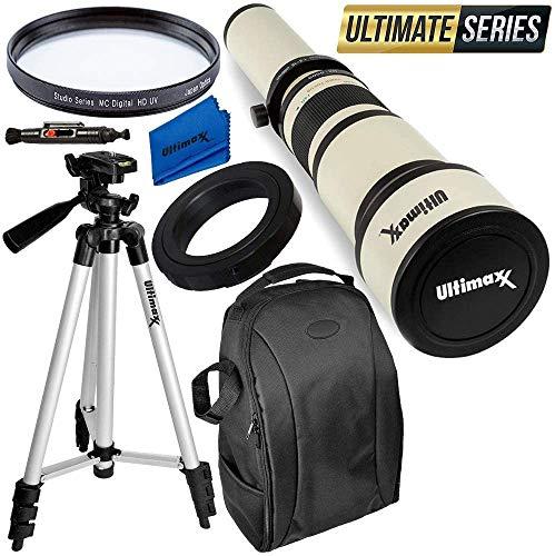 Ultimaxx 650-1300mm Telephoto Zoom Lens Kit for Nikon D7500, D500, D600, D610, D700, D750, D800, D810, D850, D3100, D3200, D3300, D3400, D5100, D5200, D5300, D5500, D5600, D7000