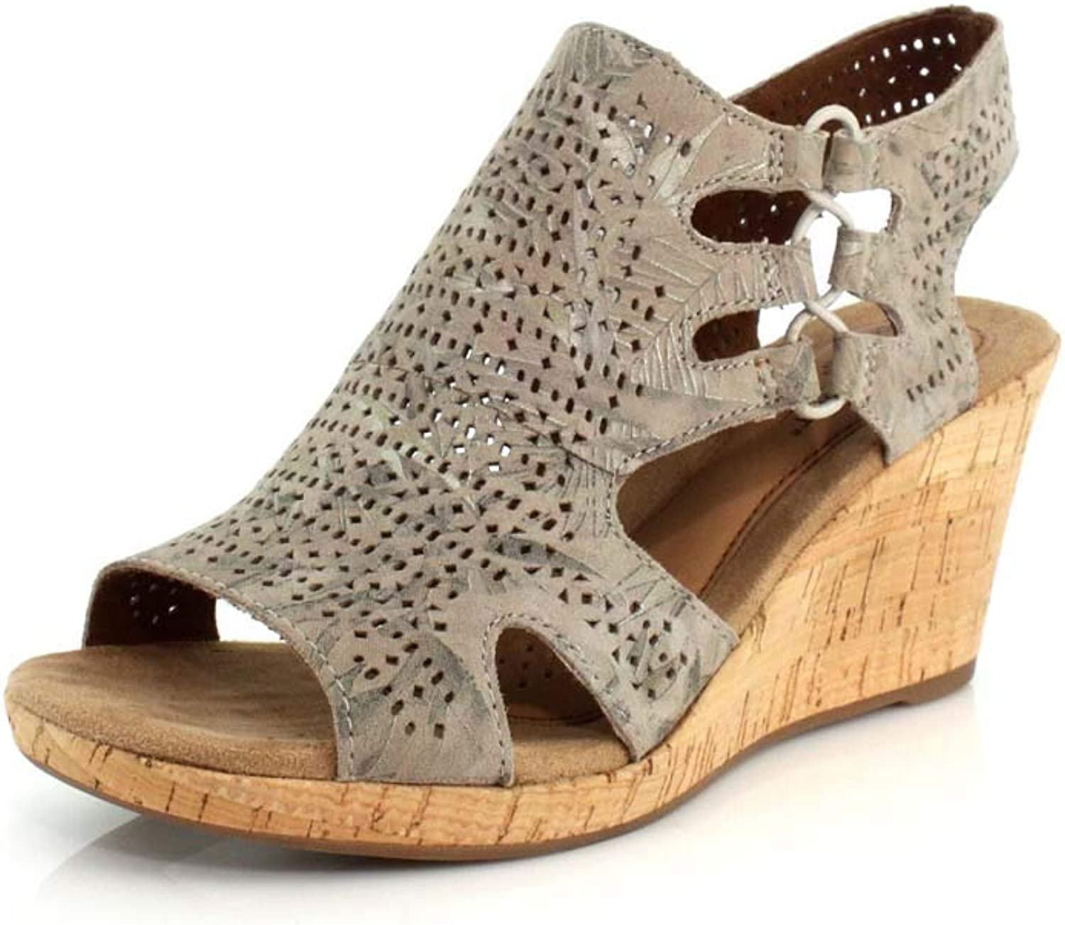 Rockport Cobb Hill Collection Women& 39;s Cobb Hill Janna Perf Bootie Floral Metallic 8 D US