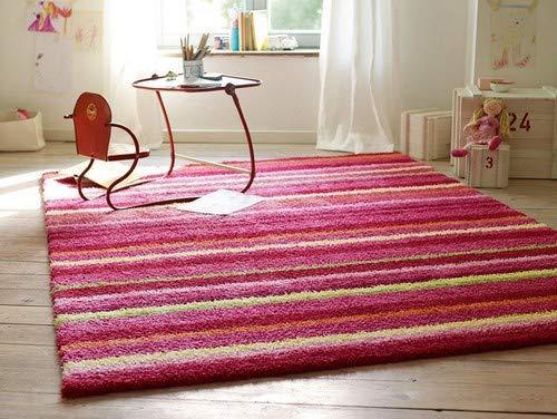 ESPRIT Funny Stripes Moderner Markenteppich, Polyacryl, Rot, 160 x 90 x 1.5 cm