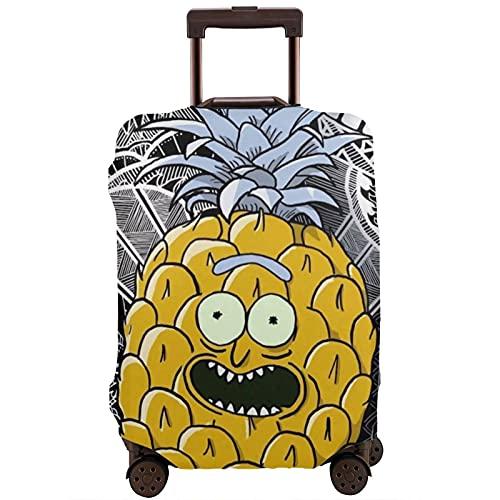 Copertura per valigie lavabile e antigraffio Ri-Ck e Mor-Ty Cartoon Pi-Na-Pple per valigie da 45,5 cm – 72 cm, multicolore, 80