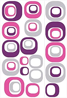 Roommates Modern Ovals Peel & Stick Wall Decal, Multi-Colour, RMK1343GM