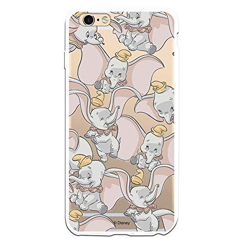 Custodia per iPhone 6 Plus – 6S Plus ufficiale di Dumbo Dumbo Silhouette Trasparente per proteggere il tuo cellulare Cover per Apple in silicone flessibile con licenza ufficiale Disney.