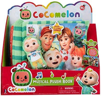CoComelon Nursery Rhyme Singing Time Plush Book, Featuring Tethered JJ Plush Character Toy, for JJ's Daily Musical Adventures – Books for Babies and Young Children