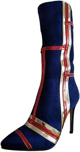 Damen Stiefel     Stiefel   Mittlere u - Stiefel, Wildleder, Hochhackige Damenschuhe festgestellt.  im Angebot