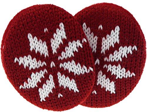 Earbags Cache-oreilles en cuir, personnalisables M Flocon de neige bordeaux.
