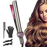 Etmury – Plancha de pelo y rizador de pelo – Curl & Straight 2 en 1 Multistyler [Upgrade]: planchas curvas para alisar, rizar y ondular, alisador de pelo con ajuste de temperatura