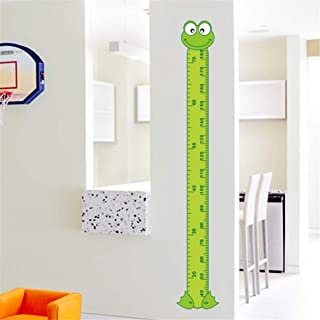 EWQHD Cute 3D Cartoon Frog Green Baby Children Height Measure Wall Stickers Kids Room Decoration Child Play Room Growth Chart