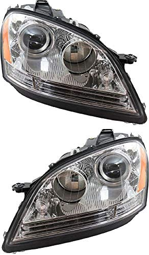Evan-Fischer Headlight Regular dealer Set Albuquerque Mall Compatible with ML 2007 Mercedes Benz