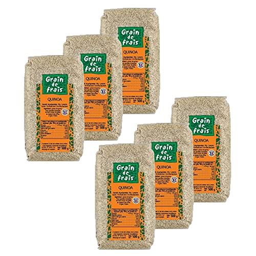 Lot 6x Quinoa - France - Grain de Frais - paquet 500g