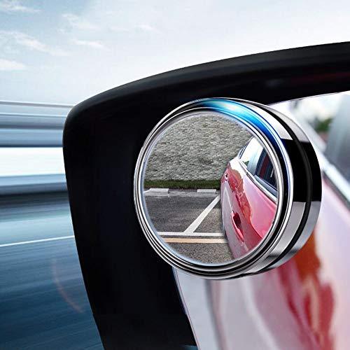 LCHENX-2 Stück Auto Toter Winkel Spiegel, 360 ° Drehbar HD Wasserdicht Langlebig Kristallglas Weitwinkel Außenspiegel für Alle Arten von Autos Geeignet