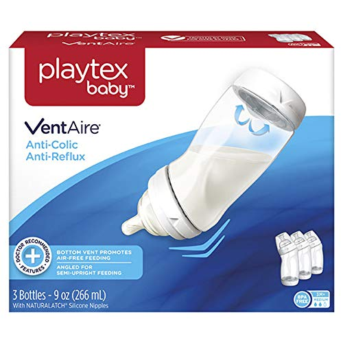 Playtex BPA Free Ventaire Bottle, 9oz 3 Count by Playtex