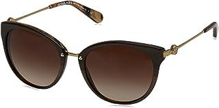 نظارات شمسية كات اي للنساء من مايكل كورس - Mk6040-321-213-55 - 55-14-144 ملم، عدسات باللون البني