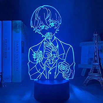 Anime Lamp 3D Game Figure Mystic Messenger Unknown Led Night Light for Kid Room Deco Birthday Gift-Touch Control