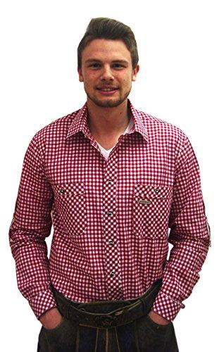 Klassisches kariertes Trachtenhemd Peine Hemd rot weiß