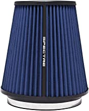 Spectre Universal Clamp-On Air Filter: High Performance, Washable Filter: Round Tapered; 6 in (152 mm) Flange ID; 8.5 in (216 mm) Height; 7.719 in (196 mm) Base; 5.125 in (130 mm) Top, SPE-HPR0891B