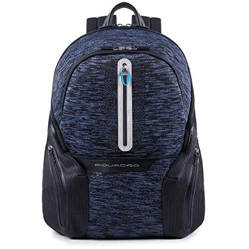 Piquadro Coleos zaino porta PC e porta iPad®Air/Pro 9,7 con placca USB e micro-USB - CA2943OS37 (Blu)
