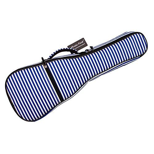 MUSIC FIRST Caso Bolsa de Algodón de Ukelele De Imagen de Rayas Azules Marineras, Adecuada para Ukelelede de 21 Pulgadas Soprano versión 2.0