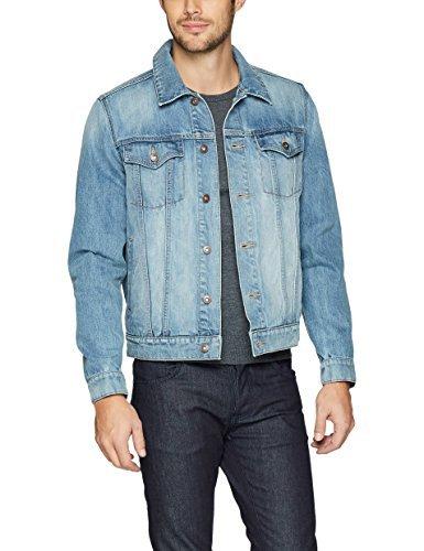 Goodthreads Denim Jacket Veste en jean, Bleu (Lightwash), Large