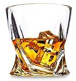 LANFULA Whisky Gläser, 300 ml Bleifreie Kristall Whiskey Glas 4er-Set, für Whisky Liebhaber