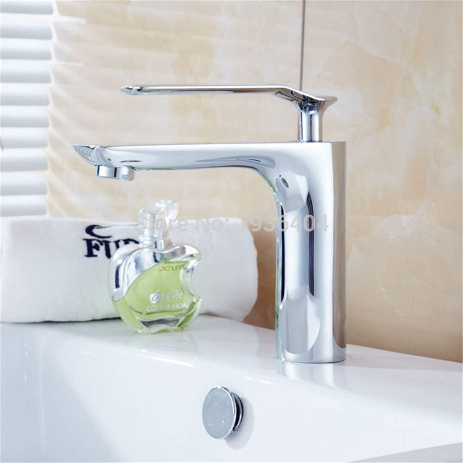 Retro Hot and Cold Faucet Retrochrome Bathroom Hot & Cold Mixer Waterfall Basin Sink Wash