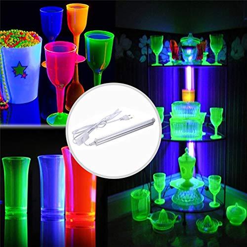 PoeHXtyy UV LED Schwarzlicht, 5W UV LED Röhre Schwarzlicht für Schwarzlicht Poster, UV Art, Schlafzimmer, Ultraviolettes Licht für Schwarzlichtpartys