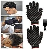 2PCS Hair Curl Sponge Gloves, Magic Curly Sponge Gloves Barber Curl Twist Sponge Glove Hair Sponge...