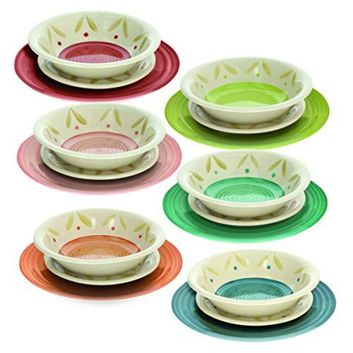 Tognana Servizio tavola 18 Pezzi Daisy Multicolor, Stoneware