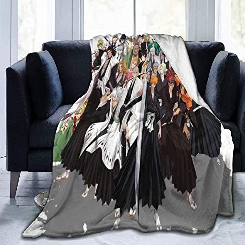 Lsjuee Manta de lejía Manta de Franela de Microfibra Mantas de Tiro Súper Suave Fuzzy Luxury Adecuado para Cama Sofá Viaje Manta de Cuatro Estaciones 80 'x60