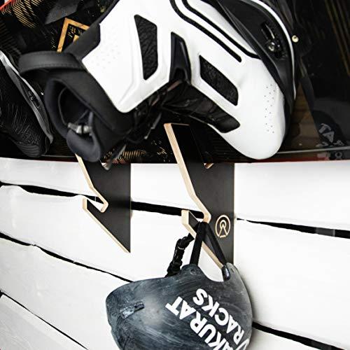 AKR Skateboard-Rack, Wand-Skateboard-Halterung, für Sport, Skateboard, Longboard, Garage, Holz, schwarz