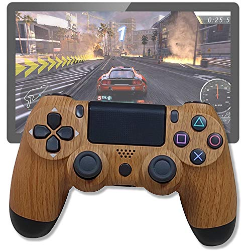 GIYL Control inalámbrico, Dispositivos de Juego Remoto Gamepad, para el teléfono Android o Tablet con OTG Función y PS3 / PC/TV o Receptor de televisión, 10 Horas de Juego para PC,Amarillo