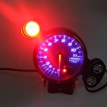 """Leoie 3.75"""" Car Gauge 3 3/4 Inch Tachometer Meter 12V Blue LED with Shift Light RPM"""