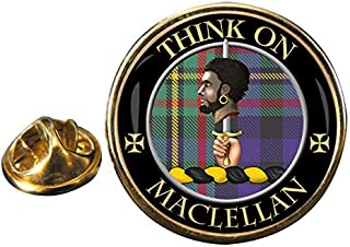 MacLellan Scottish Clan Crest Pin Badge with Gift Pouch