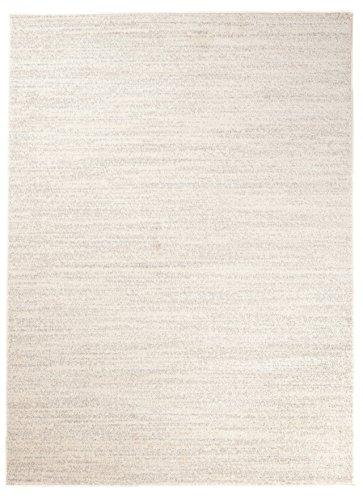 Carpeto Rugs Tapis pour Salon Uni Moderne - Tapis Poils Courts - Petit & Grand Tapis de Salon, Chambre, Cuisine - Ecru 200 x 290 cm