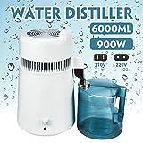 MZBZYU 6L Destilador de Agua Interior de Acero Inoxidable Purificador de Agua Water Distiller 900W para Hacer Agua Limpia para el hogar
