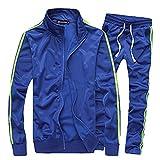 Miwaimao Fitness and Leisure Sportswear Hombres Ropa Deportiva de los Hombres de la Primavera de Moda Conjuntos de 2 PC-Shirt + Pantalones de Chándal Traje de los Hombres