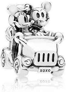 Pandora Colgante para coche de Minnie Mouse y Mickey Mouse de plata de ley 797174