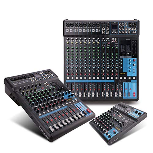 Live-Mixer 10/12/16 kanalen mengpaneel Digital SPX Dual Display met Groep-router met Bluetooth USB Webcast, karaoke, mixer
