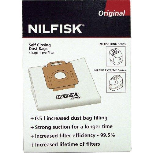 Nilfisk 1470286500 -4bolsas para aspirador Hygien Extreme X100X150