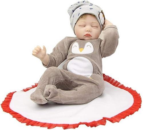 UBTY Handgemachte Baby Doll Weißh Silikon Vinyl Magnetisch Geschlossene Augen Junge Kinder Spielzeug 22 inch 55 cm Reborn Babypuppen