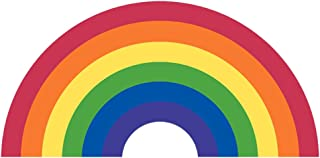 Writing Station GLBT Rainbow Flag Decal - Sticker for Cars and Trucks - Support Gay Bisexual Lesbian Transgender LGBT