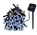Solar Powered String Lights DLTND 200LED 72Ft 22M 8Modes Waterproof Outdoor Indoor Christmas Light Wedding Holidays Party Lights for House, Lawn, Garden, Patio Landscape Decoration (Cool White)