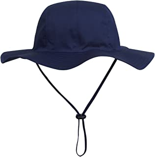 71a98b3d675 Ubbetter Unisex Child Wide Brim Sun Protection Hat UPF 50 Adjustable