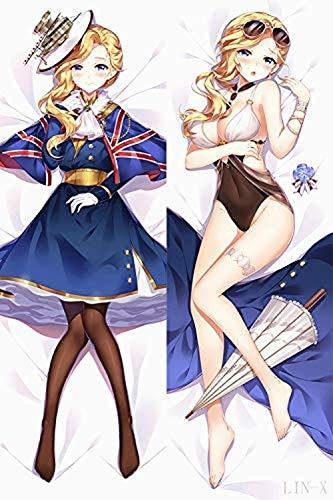 AUGYUESS RDTHE-532 - Fundas de almohada japonesas para fanáticos de anime, regalo de anime, regalos de cosplay, azur Lane Hood 160 cm (62.9 pulgadas)